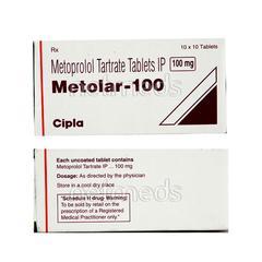 Metolar 100mg Tablet 10'S