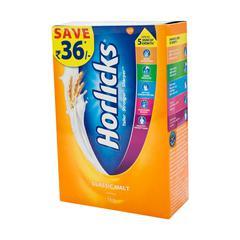 Horlicks Health Drink Powder Classic Malt 1 kg (Refill Pack)