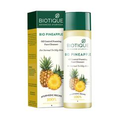 Biotique Bio Pineapple Oil Control Foaming Face Cleanser for Normal to Oily Skin 120 ml