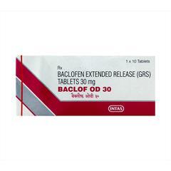 Baclof OD 30mg Tablet 10'S