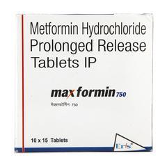 Maxformin 750mg Tablet 15'S