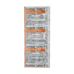 Glucobay 25mg Tablet 10'S
