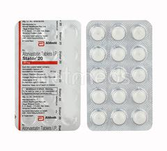 Stator 20mg Tablet 15'S