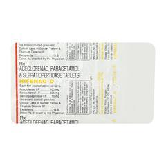 Hifenac D Tablet 10'S