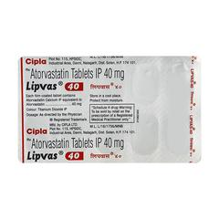 Lipvas 40mg Tablet 10'S