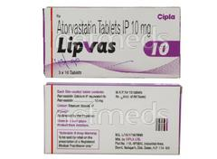 Lipvas 10mg Tablet 10'S