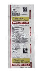 Ramihart H 2.5mg Tablet 10'S