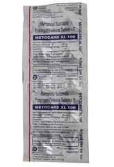 Metocard XL 100mg Tablet 10'S