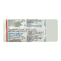 Gabapin Plus 100mg Tablet 10'S