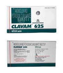 Clavam 625mg Tablet 10'S