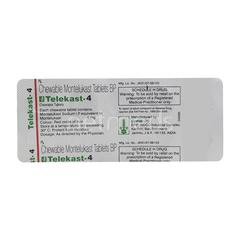Telekast 4mg Tablet 10'S