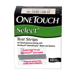 Onetouch Select Test Strip 10's