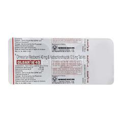 Olsar H 40mg Tablet 10'S