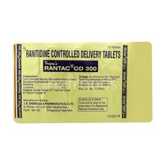 Rantac OD 300mg Tablet 10'S