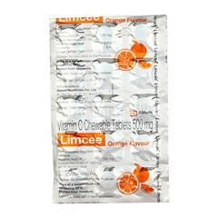 Limcee 500mg ORANGE FLAVOUR Tablet 15'S