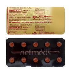 Dermotrex 7.5mg Tablet 10'S