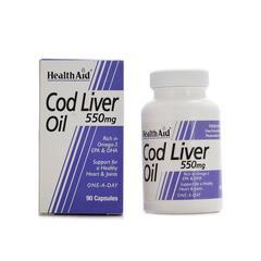 HealthAid Cod Liver Oil 550 mg Capsule 90's