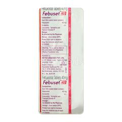 Febuset 40mg Tablet 10'S