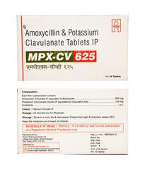 MPX CV 625mg Tablet 10'S