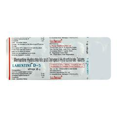 Larentine D 5mg/5mg Tablet 10'S