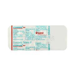 Etospeed 90mg Tablet 10'S