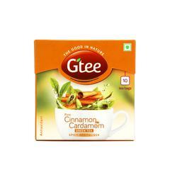 GTEE Green Tea Bag - Cinnamon & Cardamom 10's