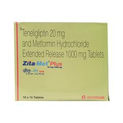 Zita Met Plus 20/1000mg Tablet 15'S