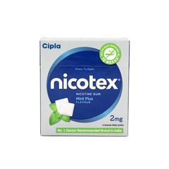 Nicotex 2mg Chew Gum - Mint Plus Flavour 9's
