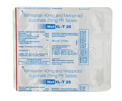 MET XL T 25mg Tablet 15'S