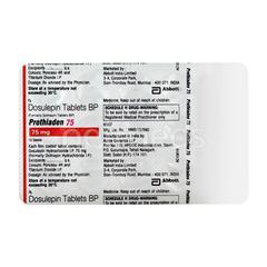 Prothiaden 75mg Tablet 15'S