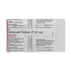 PAH 20mg Tablet 15'S