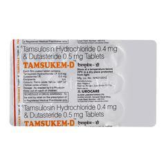 Tamsukem D 0.4/0.5mg Tablet 15'S