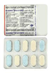 Glycomet GP Forte 0.5mg Tablet 10'S