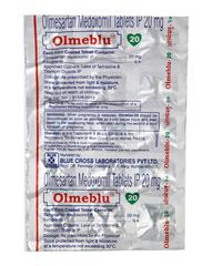Olmeblu 20mg Tablet 15'S