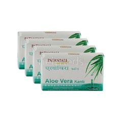 Patanjali Body Cleanser - Aloevera Kanti (Pack of 4 x 75 gm)