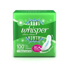 Whisper Ultra Clean Wings (XL plus) Sanitary Pad 15's