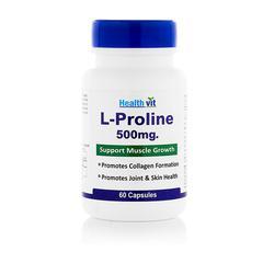 HealthVit L-Proline 500 mg Capsule 60's