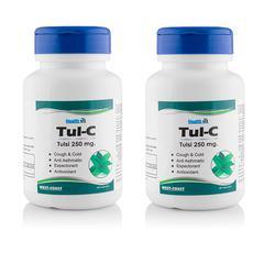 HealthVit Tul-C Tulsi 250 mg Capsule (Pack of 2 x 60's)