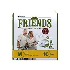 Friends Adult Diaper-Easy (M) 10's
