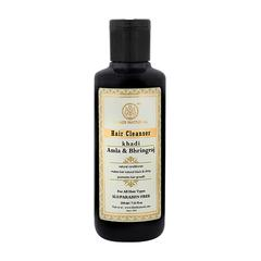 Khadi Natural Hair Cleanser (SLS & Paraben Free) - Amla & Bhringraj 210 ml