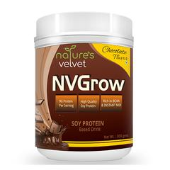 Natures Velvet NVGrow Soy Protein Powder - Chocolate Flavour 300 gm