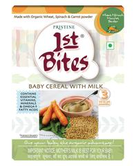 Pristine 1st Bite Baby Cereal Stage 3 (10 to 24 months) Powder - Wheat, Spinach & Carrot 300 gm (Refill Pack)