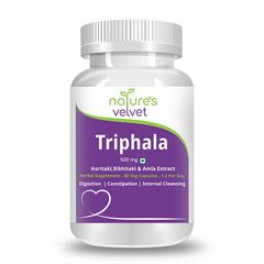 Natures Velvet Triphala Pure Extract 500 mg Capsules 60's