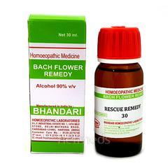 Bhandari Bach Flower Rescue Remedy 30 Liquid 30 ml