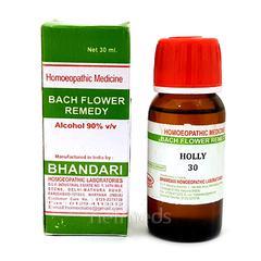 Bhandari Bach Flower Holly 30 Liquid 30 ml