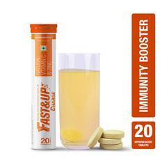 Fast&Up Charge Natural Vitamin C & Zinc Tablets - Orange Flavour 20's