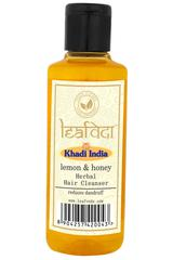 Khadi Leafveda Herbal Hair Cleanser - Lemon & Honey 210 ml