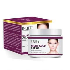INLIFE Night Gold Face Cream Anti Aging 50 gm