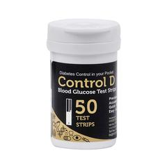 Control D Blood Glucose Test Strips 50's