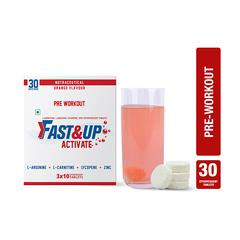 Fast&Up Activate Pre Workout Tablet - Orange Flavor (Pack of 3 x 10's)